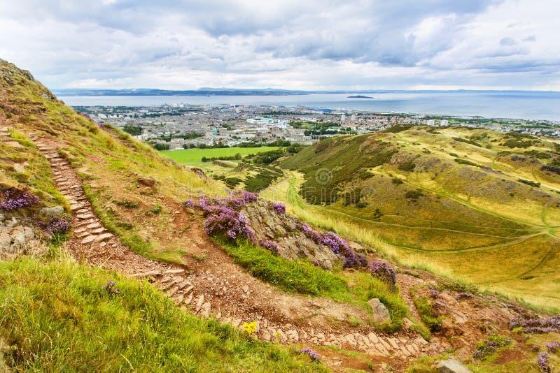 Fuga de caminhada em Edimburgo, Escócia fotos de stock