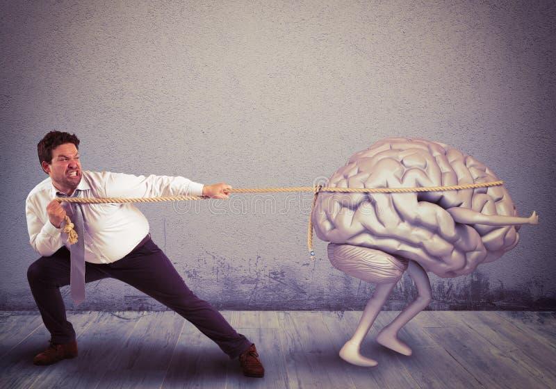 Fuga de cerebros foto de archivo libre de regalías