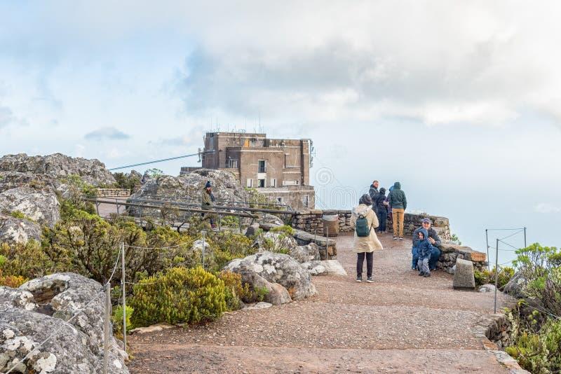 Fuga de passeio sobre a montanha da tabela em Cape Town imagens de stock