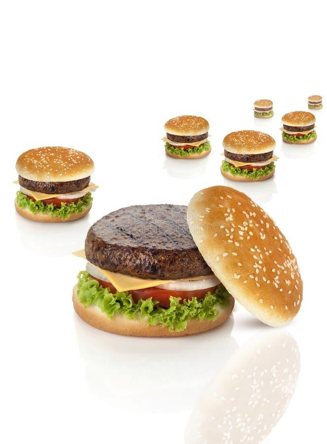 Fuga do Hamburger imagens de stock royalty free