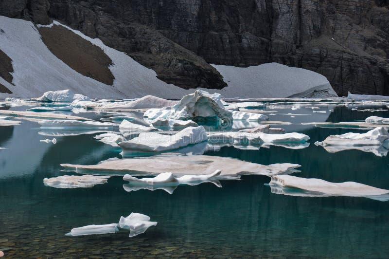 Fuga do iceberg no parque nacional de geleira, Montana, EUA fotografia de stock