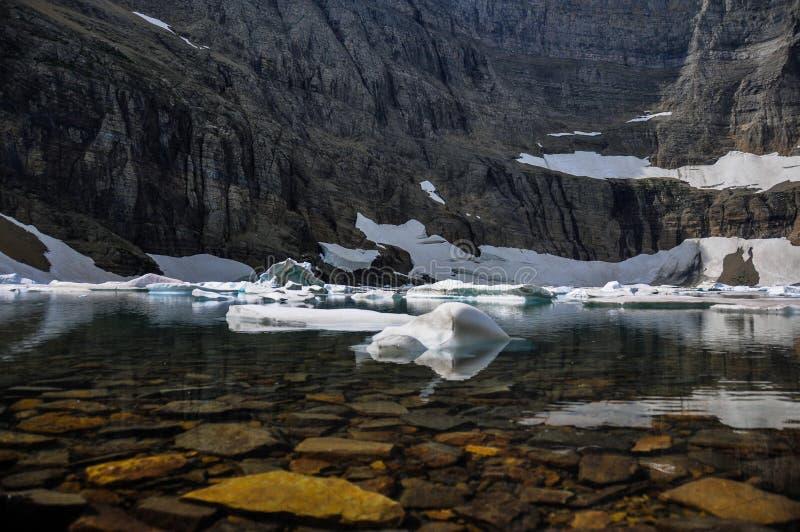 Fuga do iceberg no parque nacional de geleira, Montana, EUA imagens de stock