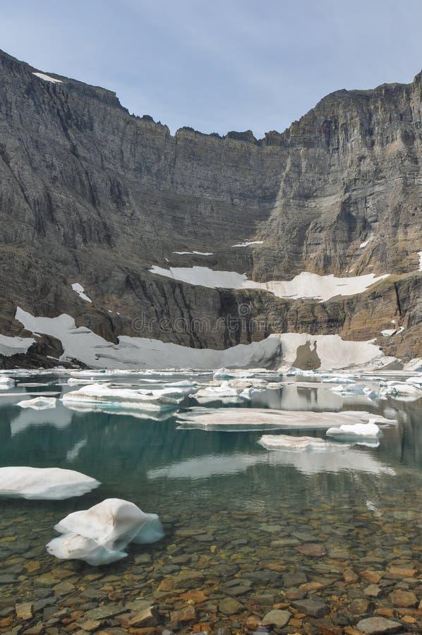 Fuga do iceberg no parque nacional de geleira, Montana, EUA imagens de stock royalty free