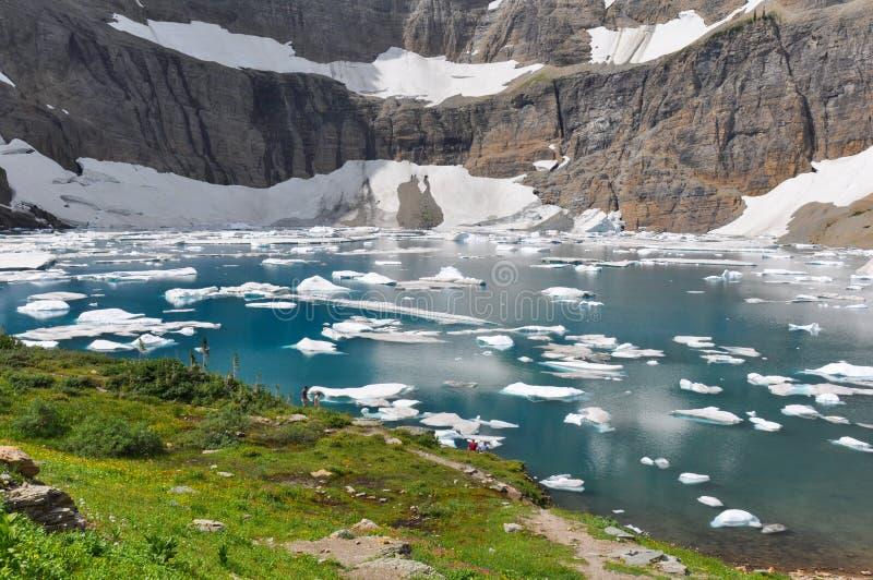 Fuga do iceberg no parque nacional de geleira, Montana, EUA fotografia de stock royalty free