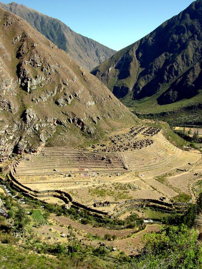 Fuga do Inca - Llaqtapata fotos de stock