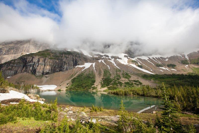 Fuga do lago iceberg, parque nacional de geleira imagem de stock