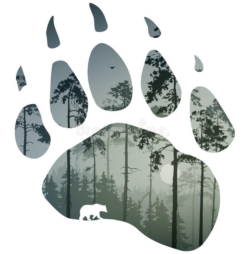 Fuga do urso ilustração royalty free