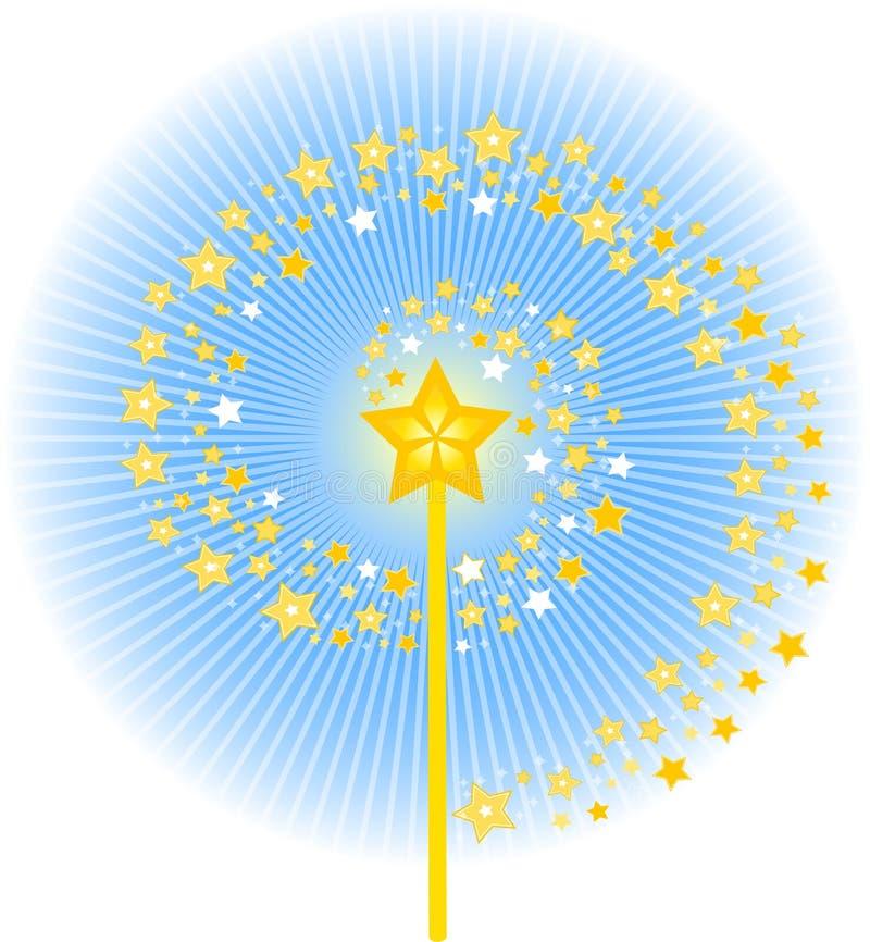 Fuga mágica da estrela da varinha ilustração royalty free