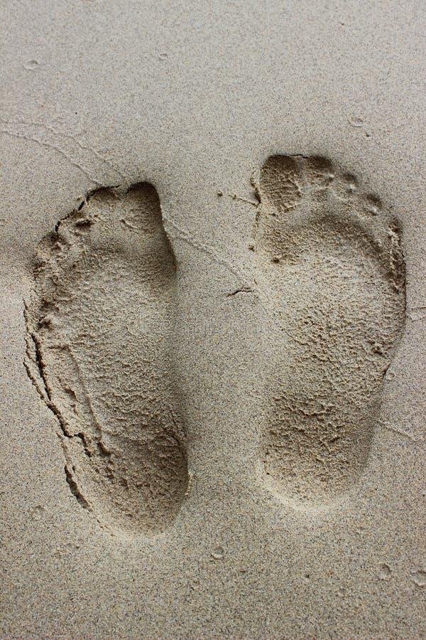 Fuga na praia fotografia de stock royalty free