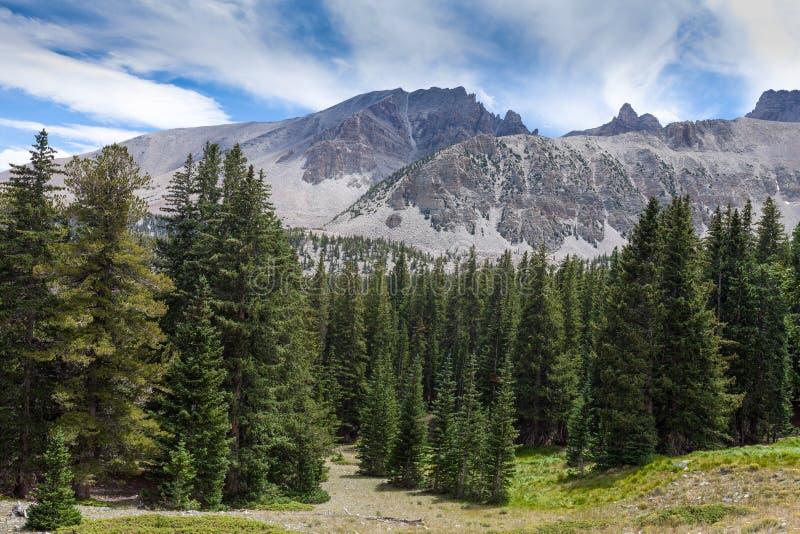 Fuga nacional do pico do Parque-veículo com rodas da Nanovolt-grande bacia imagens de stock