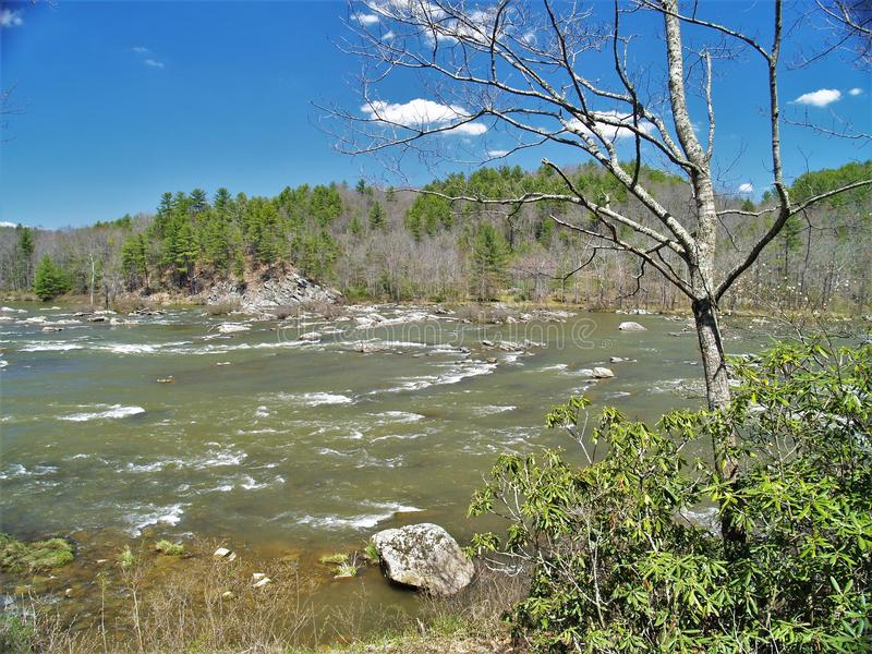 Fuga nova do rio em Virgínia fotos de stock royalty free