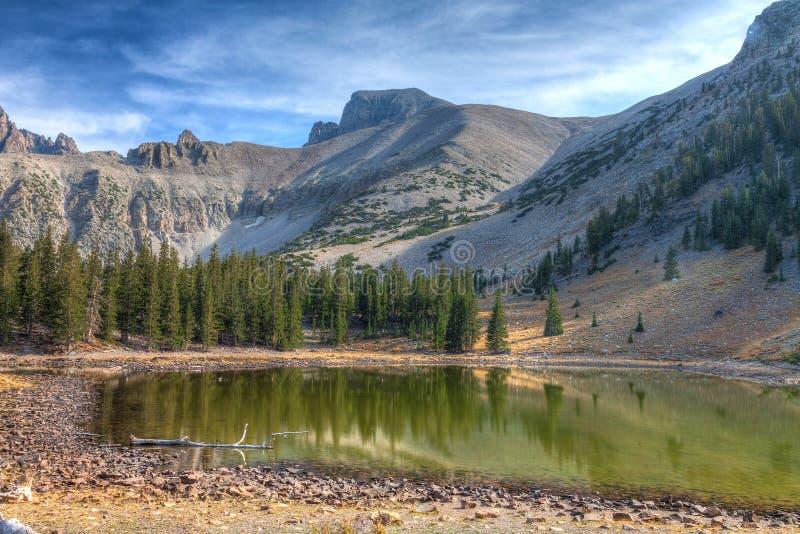 Fuga Parque-alpina nacional dos lagos CA-grande basin imagem de stock