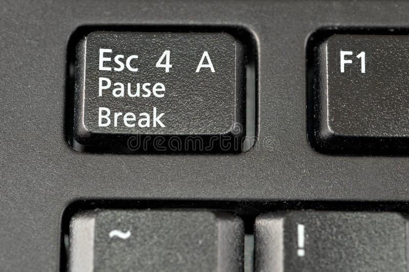 Fuga per un tasto di tastiera della rottura di pausa fotografia stock libera da diritti