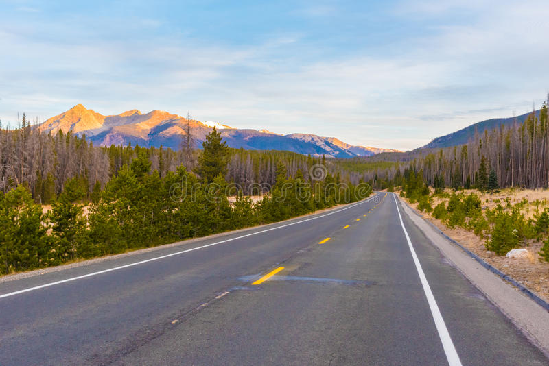 Fuga Ridge Road, Rocky Mountain National Park fotografia de stock