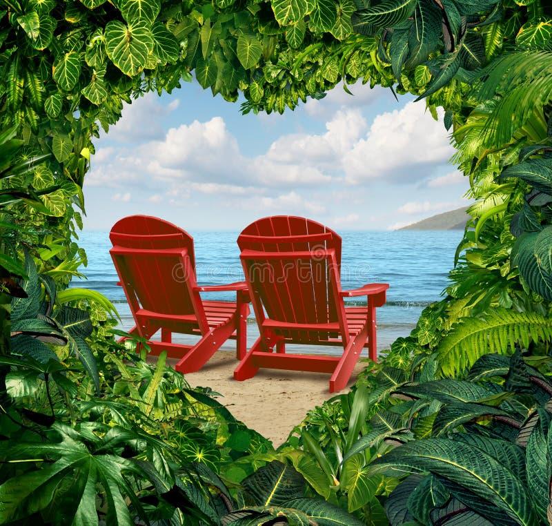 Fuga romantica illustrazione vettoriale