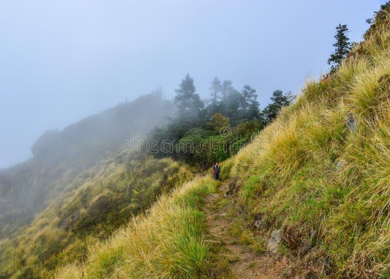 Fuga trekking de Annapurna em Nepal fotos de stock royalty free