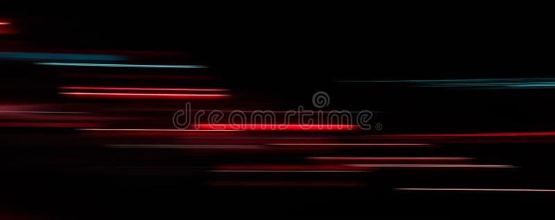 Fugas abstratas da luz na obscuridade ilustração stock