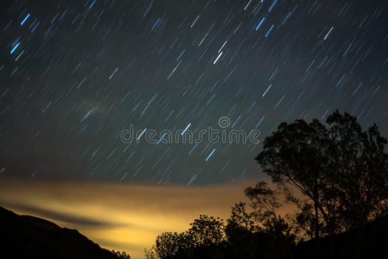 Fugas bonitas da estrela imagens de stock