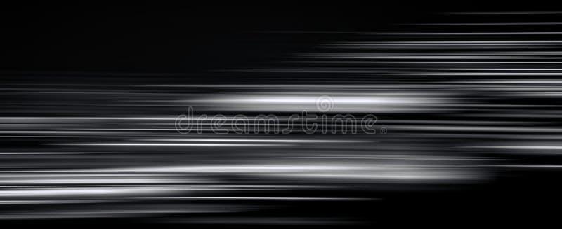 Fugas claras abstratas na obscuridade, efeito do borrão de movimento ilustração royalty free