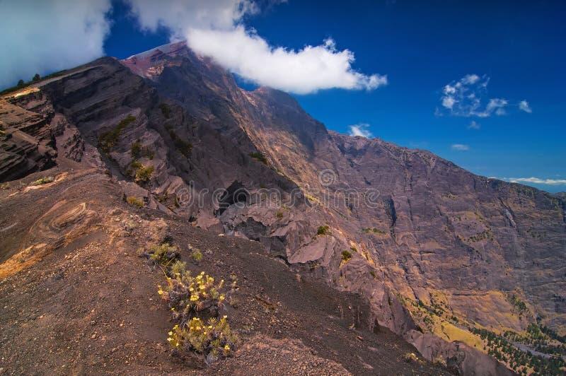 Fugas da cimeira da montagem Rinjani, Lombok fotos de stock royalty free