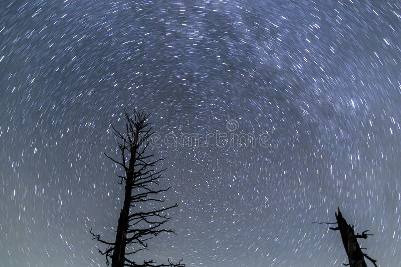 Fugas da estrela em Bryce Canyon fotografia de stock
