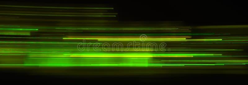 Fugas da luz verde fotos de stock