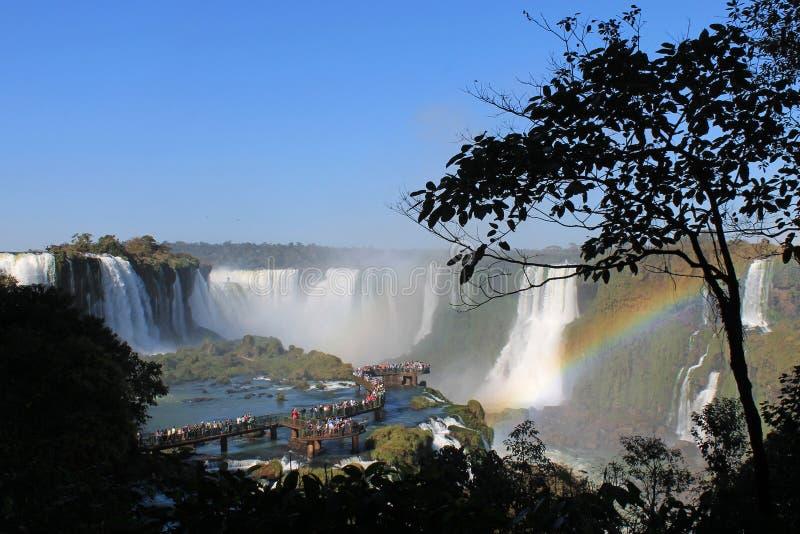 Fugas de Foz de Iguaçu, lado de Brasil foto de stock royalty free