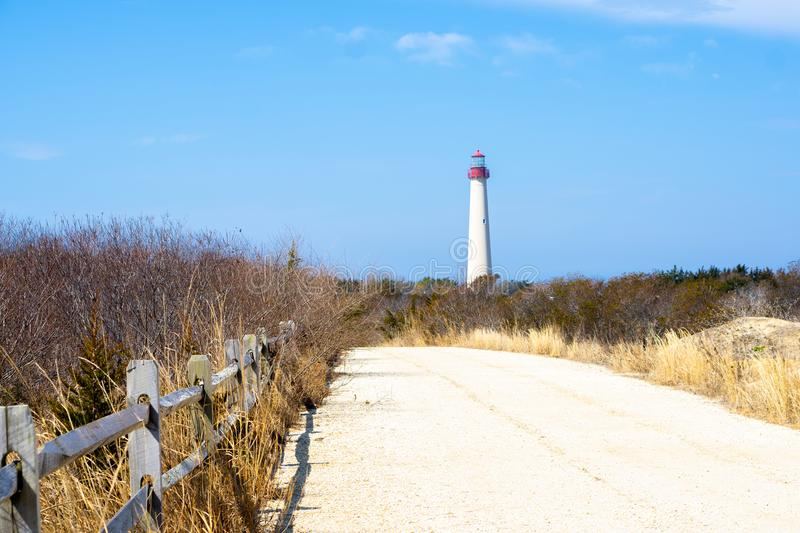 Fugas do farol de Cape May fotografia de stock royalty free