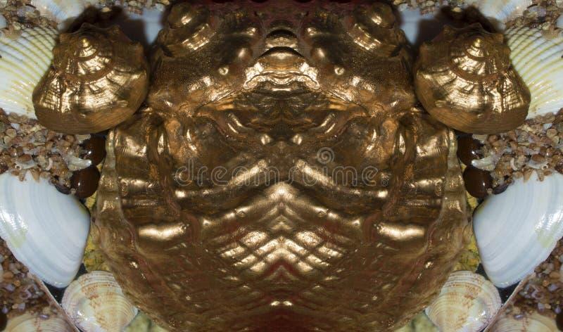 Fugas estilizadas de los pescados del oro del recuerdo del metal fotos de archivo