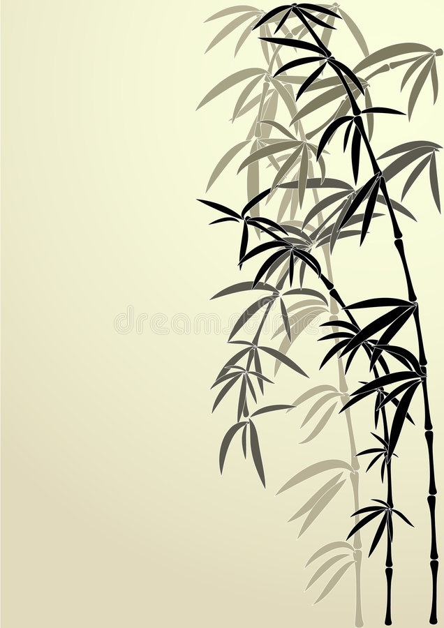 Fugitivos de un bambú fotos de archivo