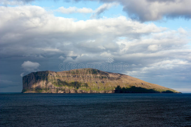 Fugloy, Faroe Islands. Fugloy is the eastern-most island in the Faroe Islands. The name means bird island, and refers to the large number of birds that nest on stock photography