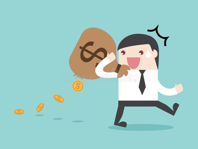 Fuite d'argent de fuite de dépense d'IMPÔTS image libre de droits