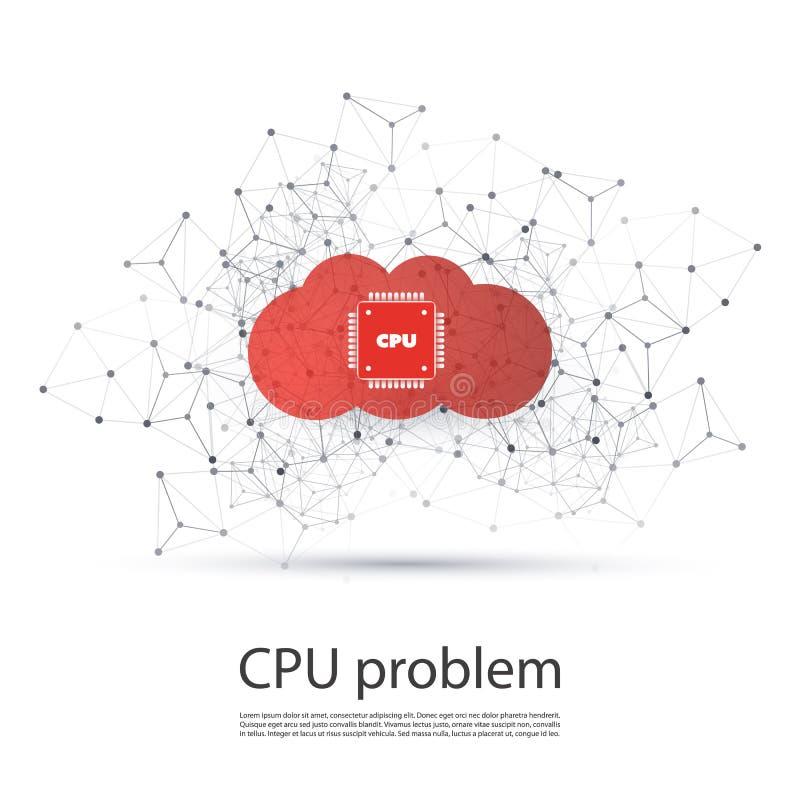 Fuite de mot de passe ou de données dans des réseaux et des applications de nuage - problème d'insectes et de vulnérabilités d'un illustration libre de droits