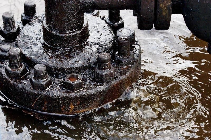 Fuite de pétrole photos stock