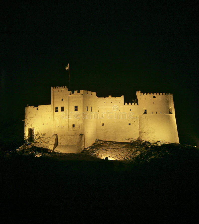 Download Fujairah Castle stock photo. Image of space, copy, fort - 18668002
