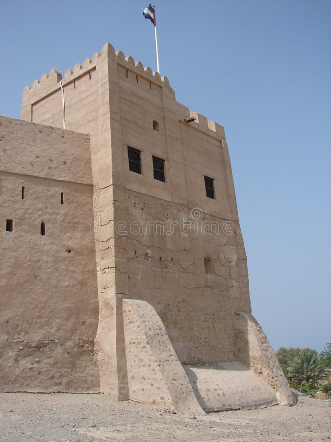 Download Fujairah Castle Tower stock photo. Image of arabia, stone - 967062