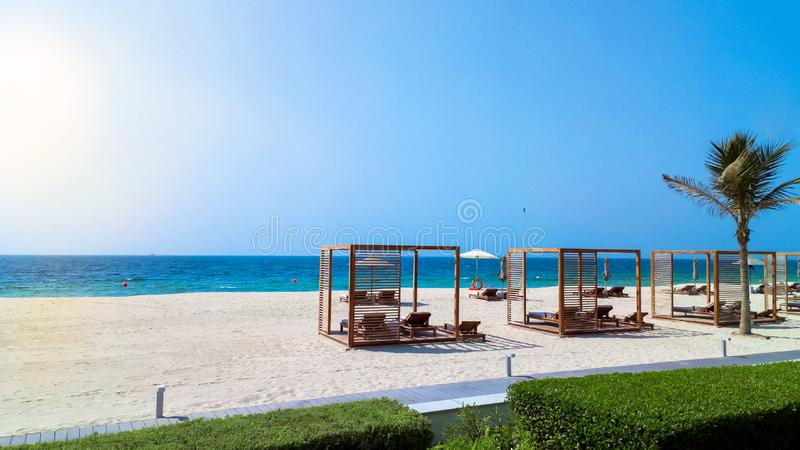 Fujairah UAE Em setembro de 2018 Costa do Golfo Pérsico imagens de stock