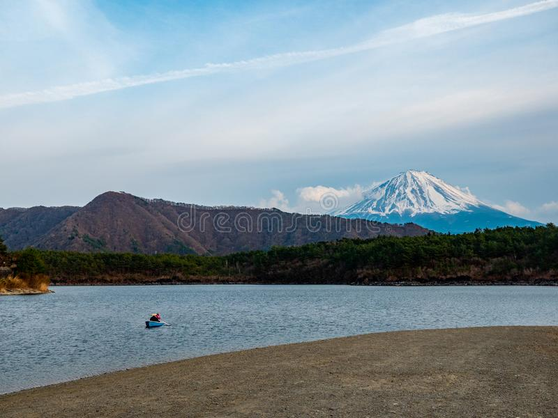Fuji bergJapan landskap arkivfoto