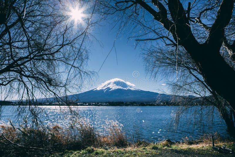 Fuji blå himmel royaltyfri fotografi