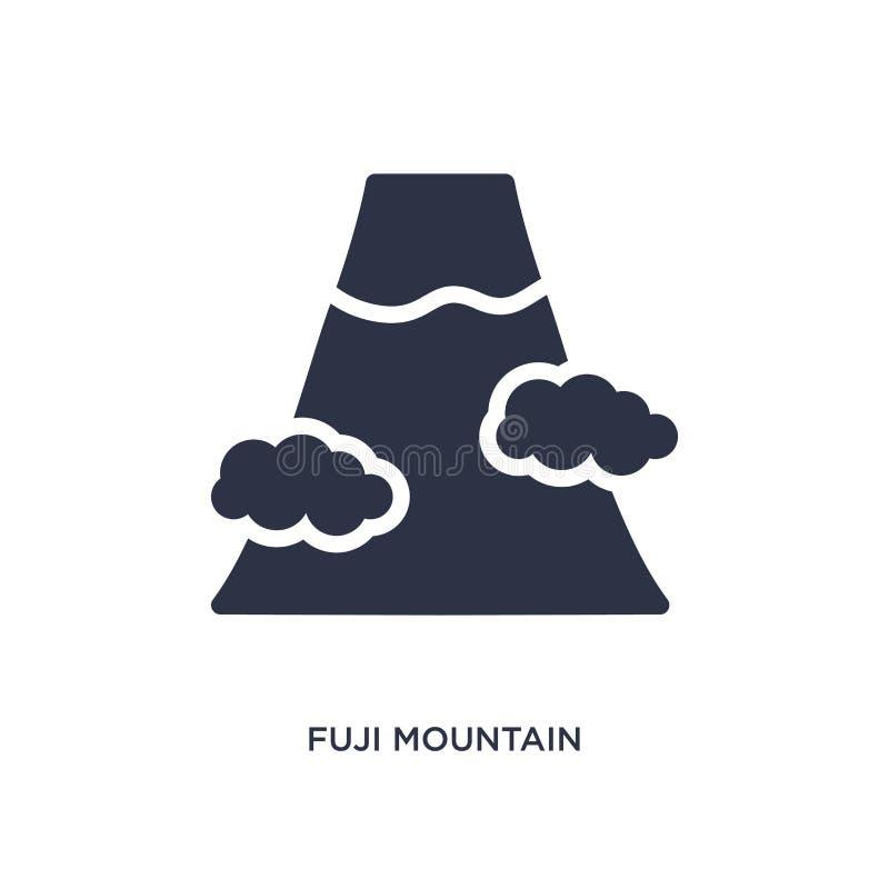 Fuji-Gebirgsikone auf weißem Hintergrund Einfache Elementillustration vom Gebäudekonzept vektor abbildung
