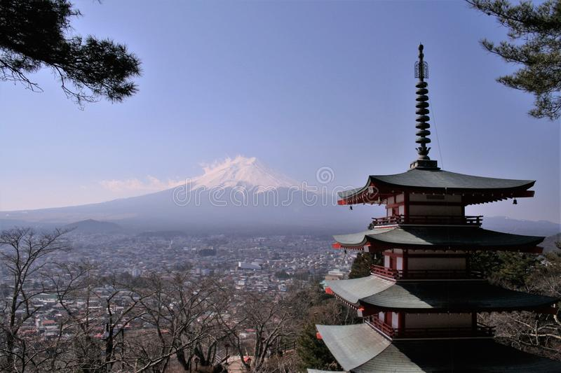 Fuji mening stock afbeelding