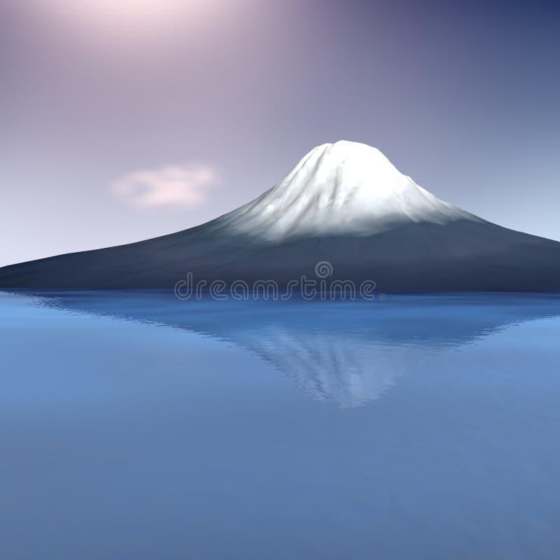 Fuji-Montierung lizenzfreie abbildung