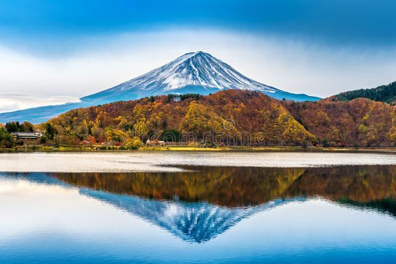 Fuji mountain and kawaguchiko lake in Japan stock photos