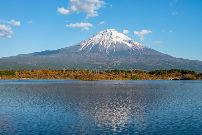 Fuji mountain seen from the lake Tanuki. Fuji mountain seen from the lake Tanuki, Japan stock photos