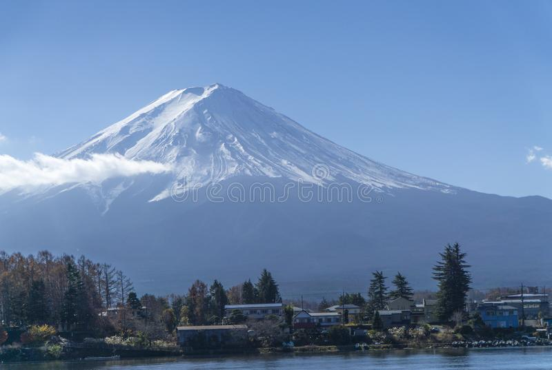 Fuji mountain at shizuoka , Japan. Where is afavorite for the tourist go to Japan royalty free stock images