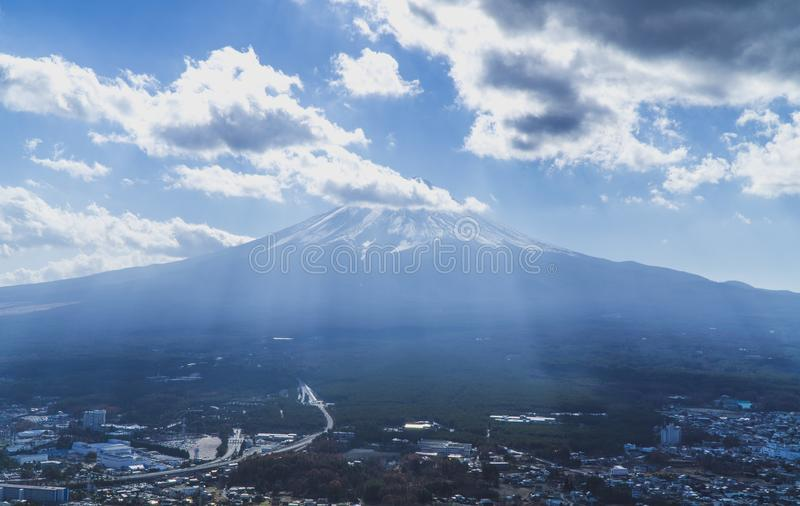 Fuji mountain at shizuoka , Japan. Where is afavorite for the tourist go to Japan royalty free stock image