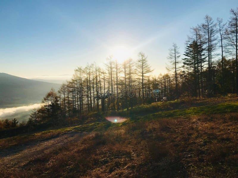 Fuji panoramasemesterort, Nagano prefektur royaltyfri bild