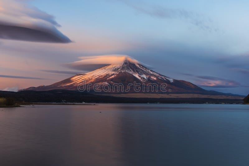 Mt Fuji Sunrise. Fuji sunrise at Yamanakako lake royalty free stock image
