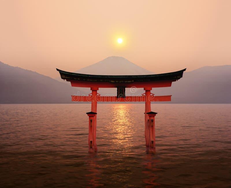 Download Fuji Tori sunset stock photo. Image of buddhism, holiday - 14594550