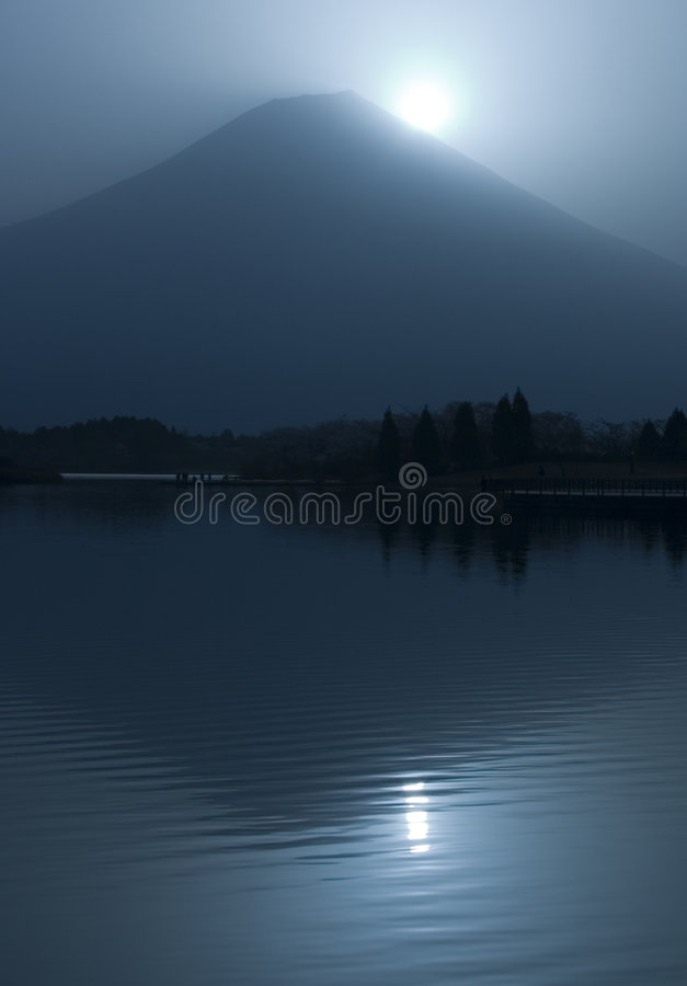 Fuji z diamentem fotografia stock